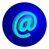 @symbol del concepto de Internet aislado en el fondo blanco Fotos de archivo libres de regalías