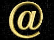 Symbol der eMail-3D Lizenzfreies Stockfoto