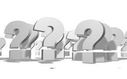Symbol der Fragen-3D Stockbilder