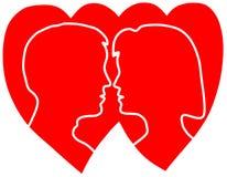 Symbol der Liebe Stockbild