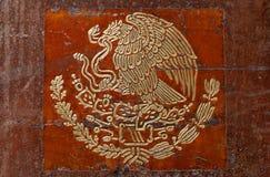Symbol der mexikanischen Markierungsfahne Lizenzfreies Stockfoto