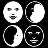 Symbol der Mond-Phasen stockfotografie