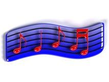 Symbol der Musik 3D Lizenzfreies Stockfoto