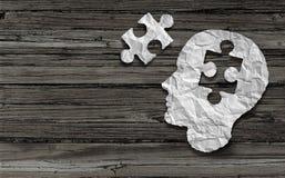 Symbol der psychischen Gesundheit Stockbild