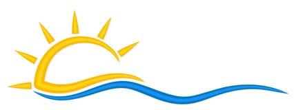 Symbol der Sonne und des Meeres Stockfotos
