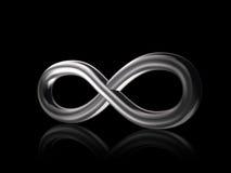 Symbol der Unbegrenztheits-3D Lizenzfreie Stockbilder