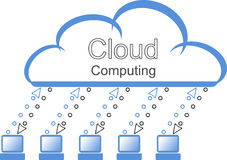 Symbol der Wolken-Datenverarbeitung Stockfoto