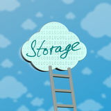Symbol der Wolkendatenverarbeitung Lizenzfreie Stockfotografie