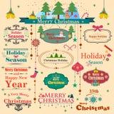 Symbol des bunten Weihnachten Lizenzfreies Stockbild