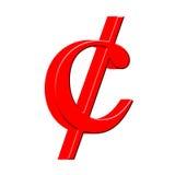 Symbol des Cents 3D stock abbildung