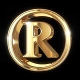 Symbol des eingetragenen Warenzeichens mit Beschneidungspfad Stockfotografie