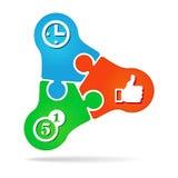 Symbol des Erfolgs. Kosten, Zeit, Qualität Stockbild