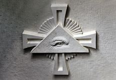 Symbol des Freimaurertempels Stockbild
