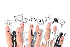 Symbol des Geschäftssozialen netzes Stockbilder