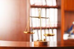 Symbol des Gesetzes und der Gerechtigkeit Stockfotos
