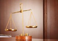 Symbol des Gesetzes und der Gerechtigkeit Lizenzfreies Stockfoto