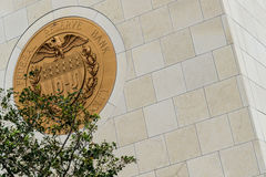 Symbol des Gold10-j bei Vereinigten Staaten Federal Reserve Stockbild