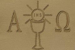 Symbol des heiligen Abendmahl Stockfotografie