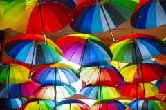 Symbol des homosexuellen Stolzes des Regenbogens stockbild