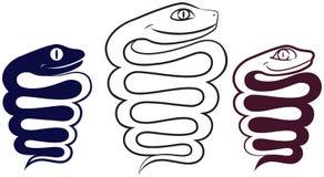 Symbol des Jahres. Fröhliche Schlange lizenzfreie abbildung