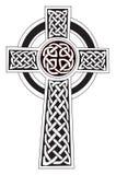 Symbol des keltischen Kreuzes - Tätowierung oder Gestaltungsarbeit Lizenzfreie Stockfotos