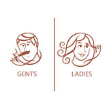 Symbol des Mannes, Frau, Junge, Mädchen Lizenzfreie Stockbilder