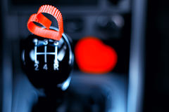 Symbol des roten Herzens der Liebe und der Treue formen als Geschenk für Valentine Day Stockbilder