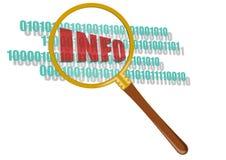 Symbol des Suchens von Informationen Lizenzfreies Stockbild
