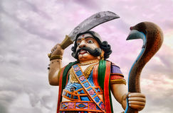 Symbol of destruction. Demon Mahishasura, Chamundi Hill, Mysore Stock Photography