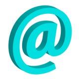 @symbol di concetto di Internet isolato su fondo bianco Fotografia Stock