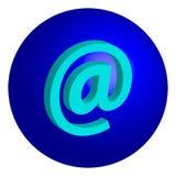 @symbol di concetto di Internet isolato su fondo bianco Fotografie Stock Libere da Diritti