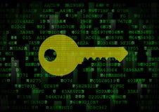 It is a symbol of a digital key. Stock Photos