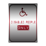 Symbol for disabled people Stock Photos