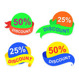 Symbol discount, vector. Illustration symbol  sale, abstract background, EPS 10 Stock Image