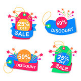 Symbol discount, vector. Illustration symbol  sale, abstract background, EPS 10 Stock Photos