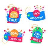 Symbol discount, vector Stock Photos