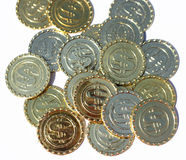 Symbol dla bitcoin blockchain technologii Obrazy Royalty Free