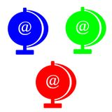 @symbol do conceito do Internet isolado no fundo branco Imagem de Stock Royalty Free