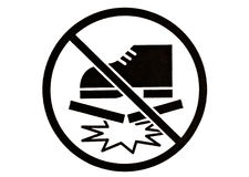 Symbol of do not step on. Stock Photos