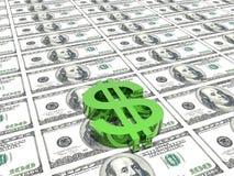 symbol dolara tło pieniądze Obrazy Stock