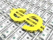 symbol dolara tło pieniądze Fotografia Royalty Free