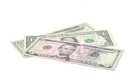 The 2015 symbol of dollar banknotes Stock Images