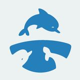 Symbol Dolphins Stock Photography