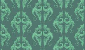 Symbol dragon pattern green wallpapers background pastel. Symbol many dragons pattern green wallpapers background vector illustration