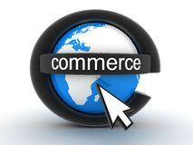 Symbol e-commerce. Abstract symbol e-commerce (done in 3d Royalty Free Stock Images