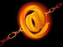 Symbol of e-mail Royalty Free Stock Photography