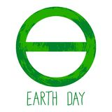 Symbol of Earth Day royalty free illustration