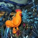 Symbol of East new year Cockerel Stock Images