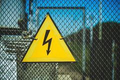 Symbol electricity Royalty Free Stock Images