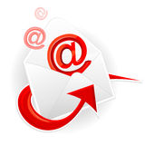 Symbol email and envelope Stock Images